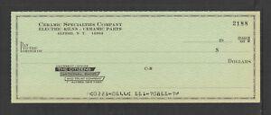 1947 ELMIRA BANK /& TRUST COMPANY ELMIRA NY ANTIQUE BANK CHECK
