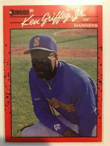 1990 Donruss Ken Griffey Jr ERROR Baseball Card #365 Seattle Mariners RARE