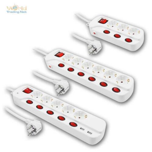 Enchufe de mesa con circuito individuales de distribución barra de enchufe los enchufes barra