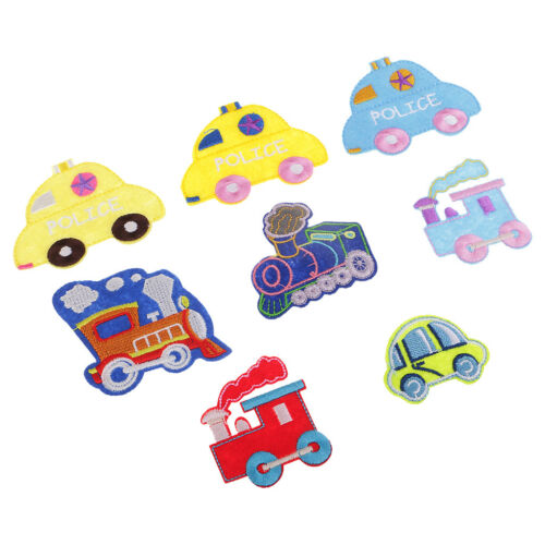 8x Mixed Cartoon Car Embroidered Appliques Iron Sew on Patches Clothes Decor