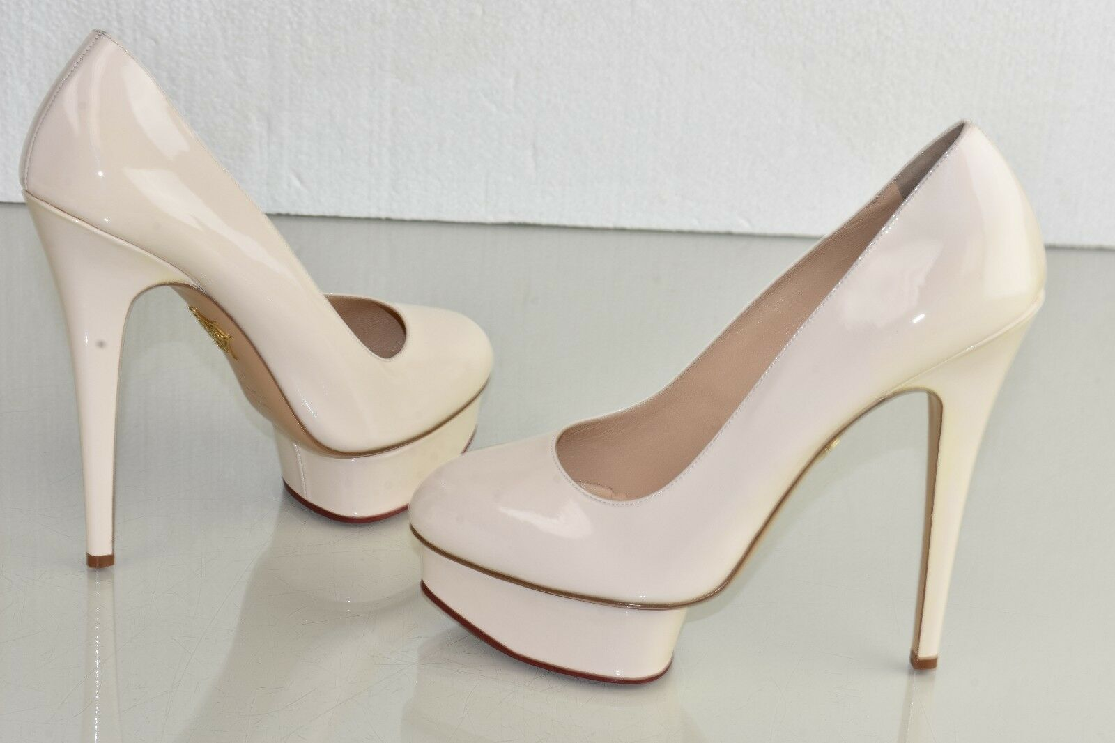 845 New Charlotte Olympia Olympia Olympia DOLLY Platform Pumps Patent Leather Powder chaussures 40 127976