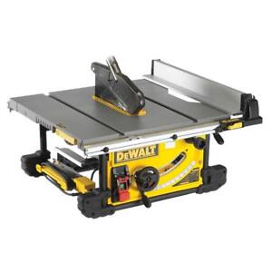Dewalt Reconditioned Dwe7491 250mm Portable Site Table Rip Saw 110 Volt W Fence Ebay