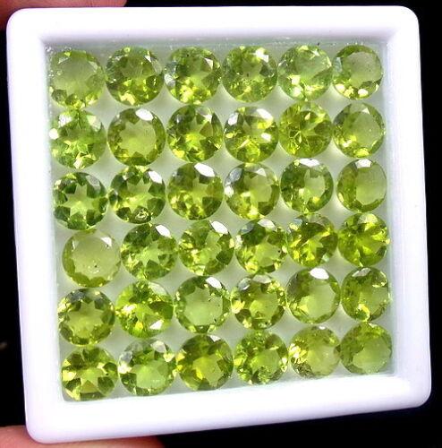 30 Ct 36 un sin tratar mejor Verde Natural Peridot al por mayor Lote de 6 mm ronda