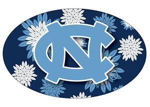 North Carolina Tarheels 6 Oval UNC Logo Magnet