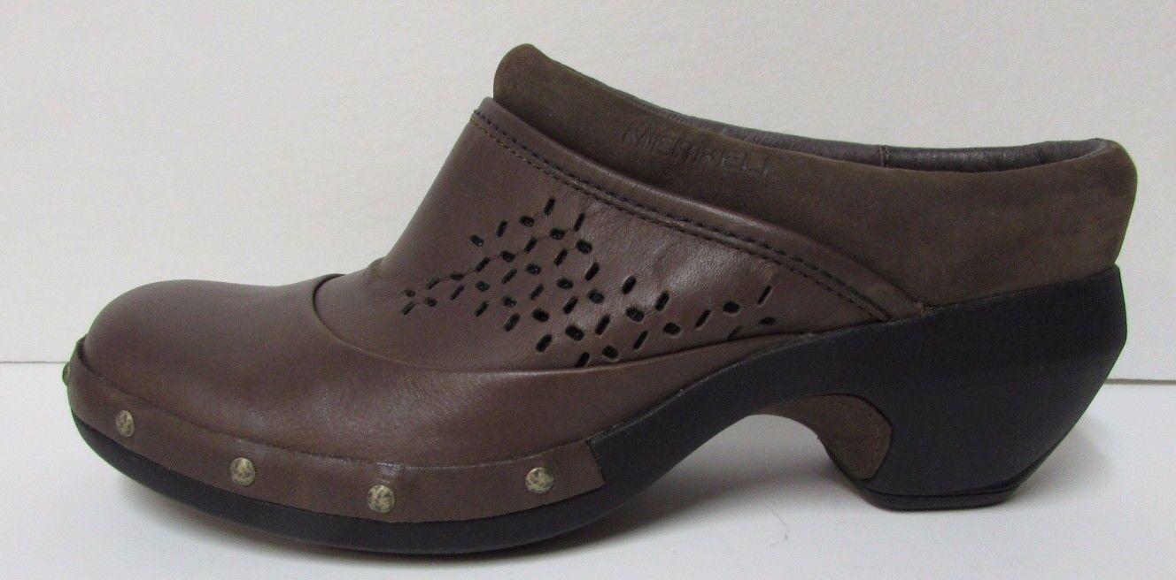 Merrell Größe 6 Braun Leder Slip on Clogs NEU Damenschuhe Schuhes