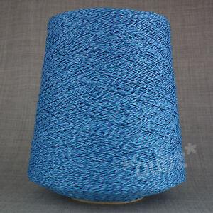 Hobby Creativi Soft 3 Strati Filati Di Cotone Blu Screziato 500g