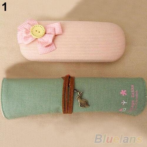 B62U Girls Vintage Roll Up Pen  Pencil Case Cute Makeup Brushes Bag Holder Pouch