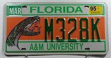 """USA Nummernschild aus Florida mit Schlange """"A&M UNIVERSITY"""". 7828.*"""