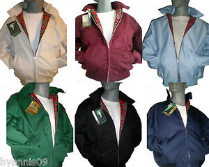 Classic-1970-039-s-Harrington-Bomber-Vintage-Jacket-Coat-Retro-Mod-Scooter