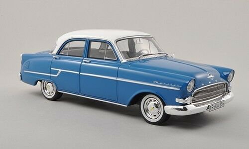 1956 Opel Captain bluee and White by BoS Models LE of 1000 1 18 Scale Rare