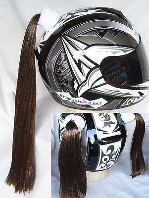 BIKE or ATV BLONDE  HELMET PIGTAILS or PONY TAIL ..MOTORCYCLE,SKATEBOARD