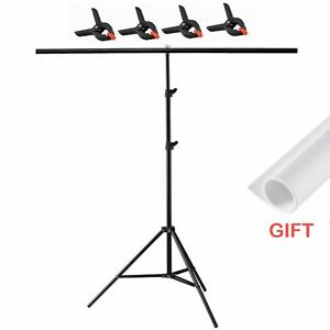 200x200cm T-sharp Backdrop Support Stand with Clamp PVC Photography Background
