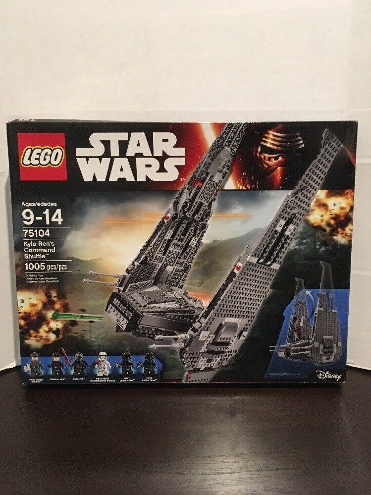 LEGO Star 75104 Wars Kylo Ren's Command Shuttle 75104 Star New Never Opened Sealed RetiROT ef0ff1