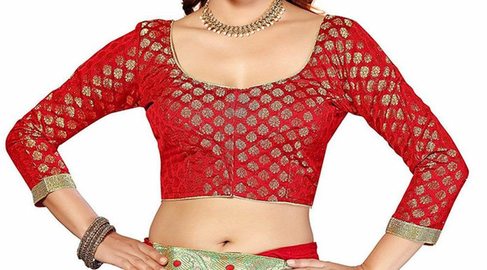 Readymade Saree Blouse, Banarasi Chanderi Silk Blouse, Readymade Blouse, Choli