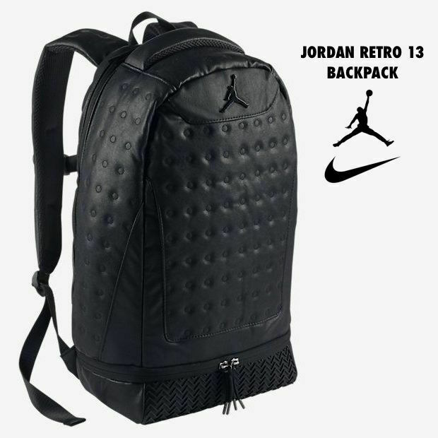 Nike Air Jordan Jumpman Retro 13 Black School Travel Backpack