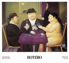 I Giocatori di Carte (Card Players) by Fernando Botero Art Print Poster 1991
