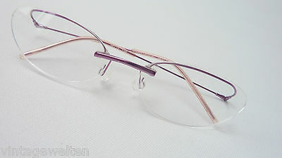 Italien Design Filigrane Brille Ohne Rahmen Ausgefallen Federstahl 54-15 Size S
