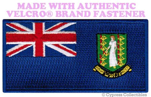 BRITISH VIRGIN ISLANDS FLAG PATCH EMBROIDERED SOUVENIR w// VELCRO® Brand Fastener