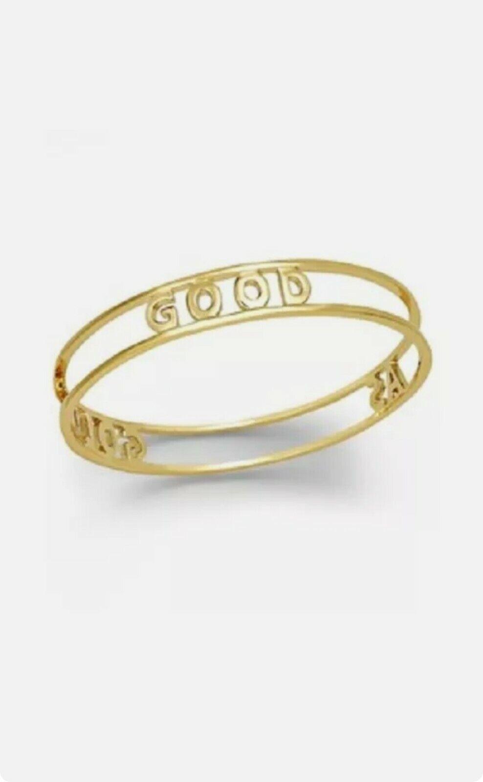 KATE SPADE 12K Gold Plated Good As Gold Bangle Bracelet WBRU8856 NEW Fab