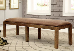 Stupendous Details About Gianna Dining Bench Industrial Style Bold Rustic Pine Solid Wood Faux Leather Ibusinesslaw Wood Chair Design Ideas Ibusinesslaworg