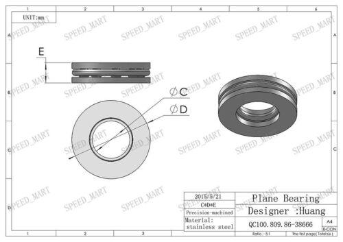 F4-9M Axial Thrust Ball Bearings 4mm x 9mm x 4mm