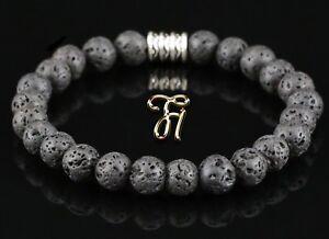 Lava-Armband-Bracelet-Perlenarmband-Buddha-schwarz-8mm