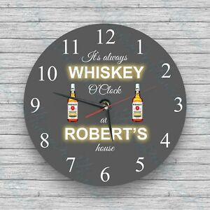 Birthday Christmas Personalised wall clock Prosecco O/'Clock Glass Wall Clock