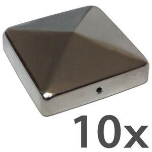2 X Pfostenkappe Schwarz 91x91 mm Pyramide Abdeckkappe Pfosten Abdeckung 9x9 cm