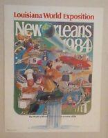 1984 World's Fair Poster New Orleans World Exposition