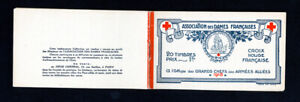 France Stamps Booklet Pane of 20 Year 1918 Grand Chefs