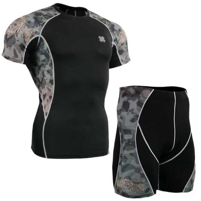 FIXGEAR C2S/P2S-B45 SET Compression Shirts & Shorts Skin-tight MMA Training Gym