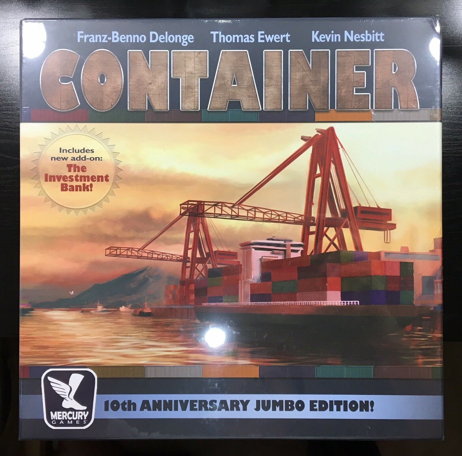 Container 10th Anniversary Jumbo Edition OOP Rare Board Game (BRAND NEW, SEALED)