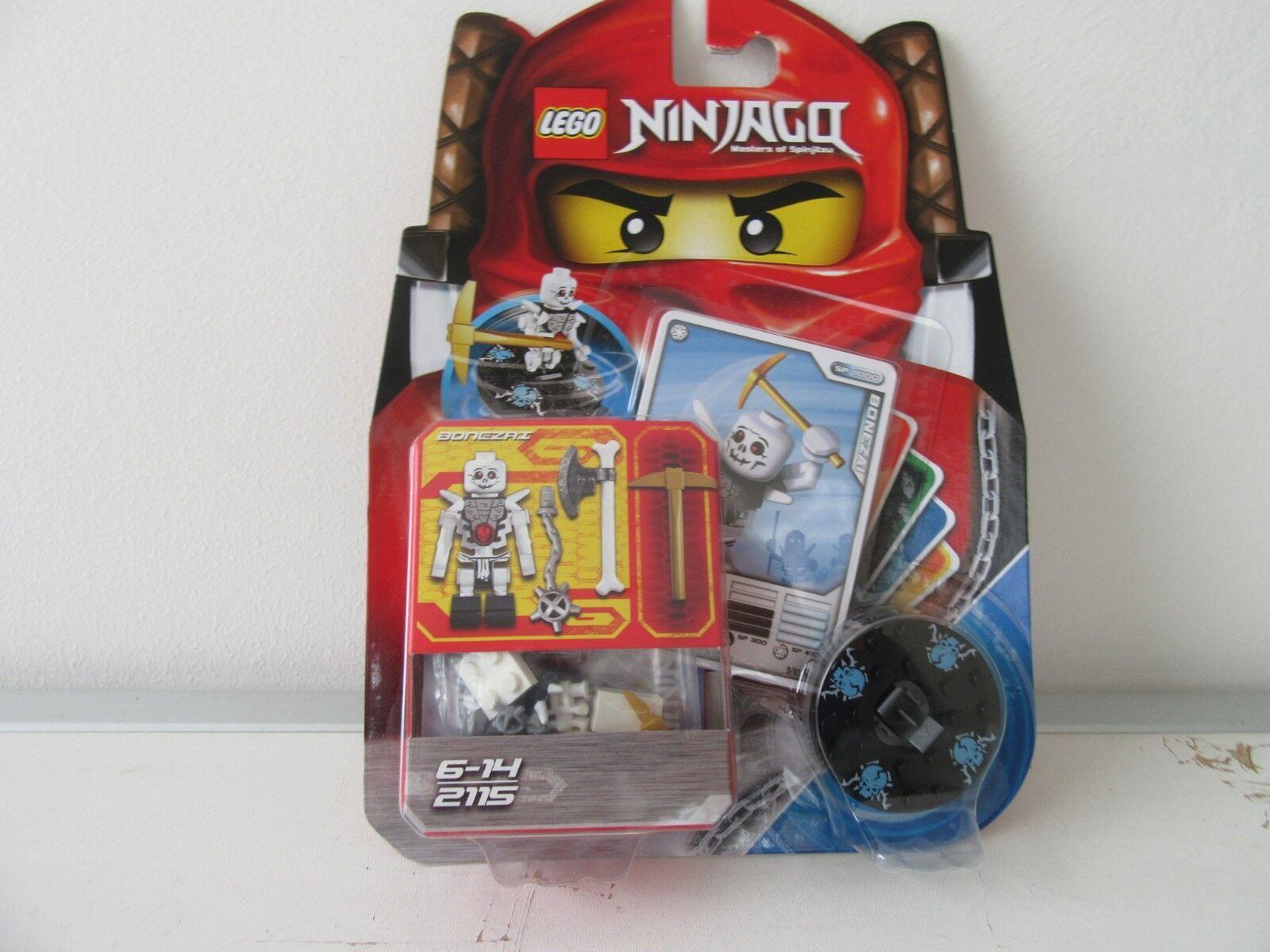LEGO NINJAGO 2115  BONEZAI  Kämpfer /& Spinner /&  Karten 2115 Bonezai