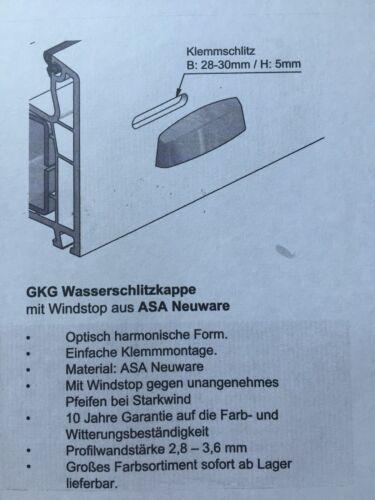 10 PVC Entwässerungskappen-Wasserschlitzkappen für  Fenster