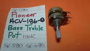 PIONEER-ACV-186-0-BASS-TREBLE-POT-100k-SX-580-SX-680-STEREO-RECEIVER