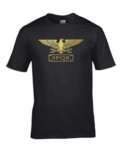 STANDARD-SPQR-Roman-Empire-Metallic-Gold-Eagle-Men-039-s-T-Shirt