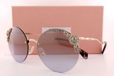 4c9cbb888baf MIU MIU Maniere 52t Pale Gold Crystal Pearl Lilac Gradient Sunglasses Mu52ts