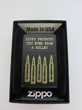 Zippo Protects from a Bullet Special Edition Vietnam War US Army WWII WK2 OVP
