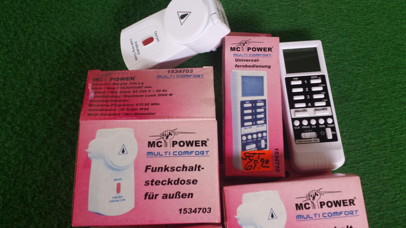 negozio online IMPERMEABILE ESTERNO Radio Interruttore a distanza con con con 3 prese Multi-Comfort per 2000 Watt  vendita calda