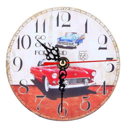 Modern Retro Wall Clock Large Shabby Chic Rustic Kitchen Home Antique Decor