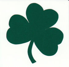 Reflective green Notre Dame Fighting Irish shamrock 1.75 inch fire helmet decal