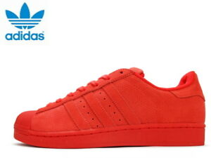 the best attitude 8e5bf a9856 Image is loading ADIDAS-ORIGINAL-SUPERSTAR-RT-PERFORATED-SUEDE-Triple-ALL-