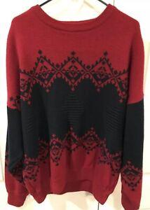 Maglione Xl Blarney Mens Vintage Blue Ireland Ski Nordic Woolen Mills Red Taglia RBPw6Ftq1w