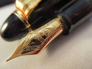 SAILOR-1911-Standard-Black-Gold-Trim-Finished-14k-Gold-M-nib-Fountain-Pen-Japan