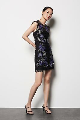 New Karen Millen Floral Lace Mini Dress Sz UK 10 12
