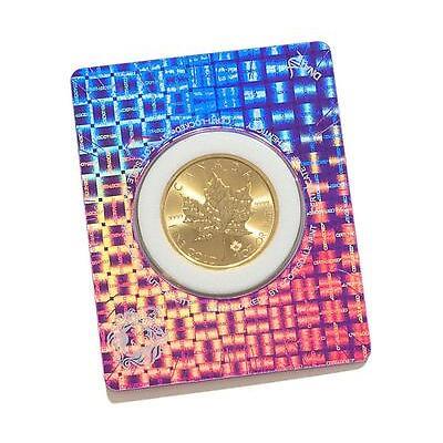 2017 1 oz .9999 Gold Maple Coin in Certi-Lock Assay Card BU #A417