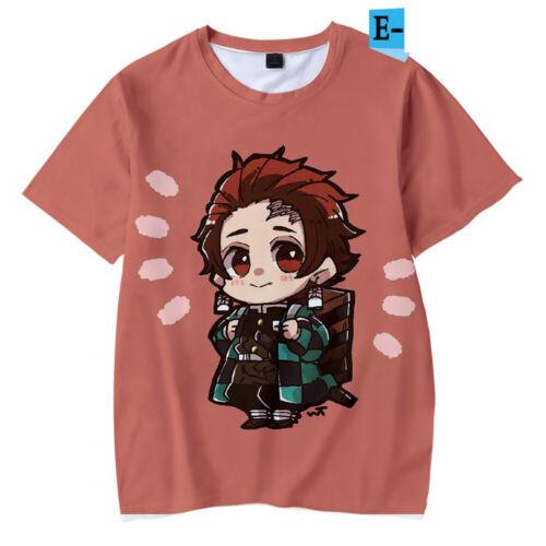 Anime Demon Slayer T-shirts kimetsu no Yaiba cartoon manga à manches courtes T-Shirt