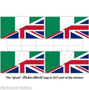NIGERIA-UK Flagge, Nigerianische-Britische Union Jack Fahne Aufkleber 50mm x4