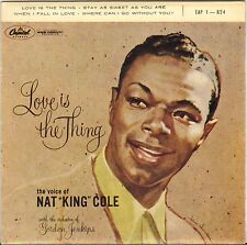 "NAT KING COLE ""LOVE IS THE THING"" POP VOCAL JAZZ 50'S EP CAPITOL 1-824"