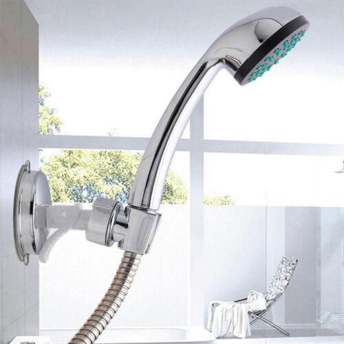 Shower Head Handset Holder CHROME Bathroom Wall Mount Adjustable Suction Bracket